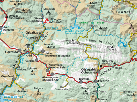 Mapa Selva De Irati.Valles De Irati Y Aezkoa